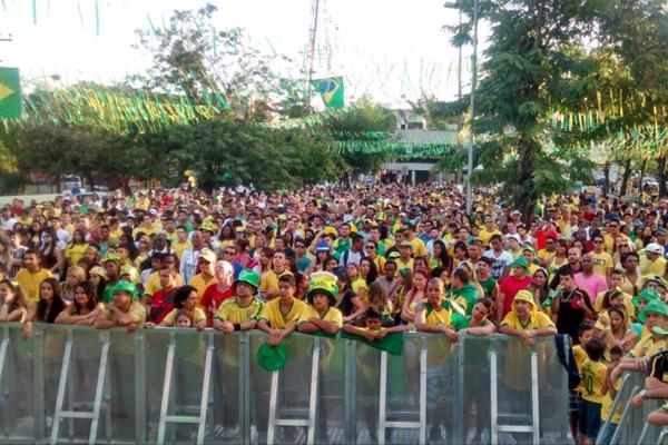 O público compareceu em todos os jogos do Brasil e na grande final (Foto: Milena Bernardo)