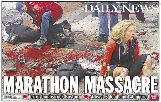 Primeira página do 'NY Daily News' de terça-feira (17) (Foto: Daily News/newseum.org)