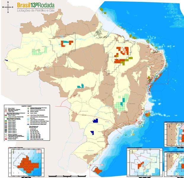 Leilão da ANP vai oferecer 266 blocos em áreas terrestres e marítimas de 12 estados  (Foto: Divulgação)