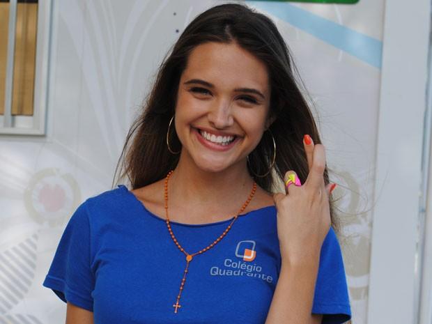 Juliana curte mais agradecer. Mas não descarta pedir por sorte no ano que vem por aí (Foto: Malhação / Tv Globo)