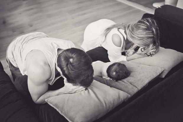Rodrigão e Adriana com o filho (Foto: Reprodução/Instagram)