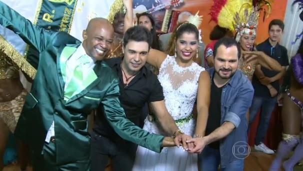 Zezé e Luciano falam sobre enredo do carnaval 2016 no Vídeo Show. (Foto: Rede Globo/Vídeo Show)
