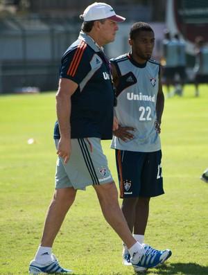 Abel Braga e Rhayner, na época de Fluminense (Foto: Bruno Haddad/Fluminense FC)