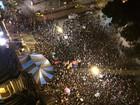 Manifestantes se reúnem no Centro do Rio contra governo de Temer