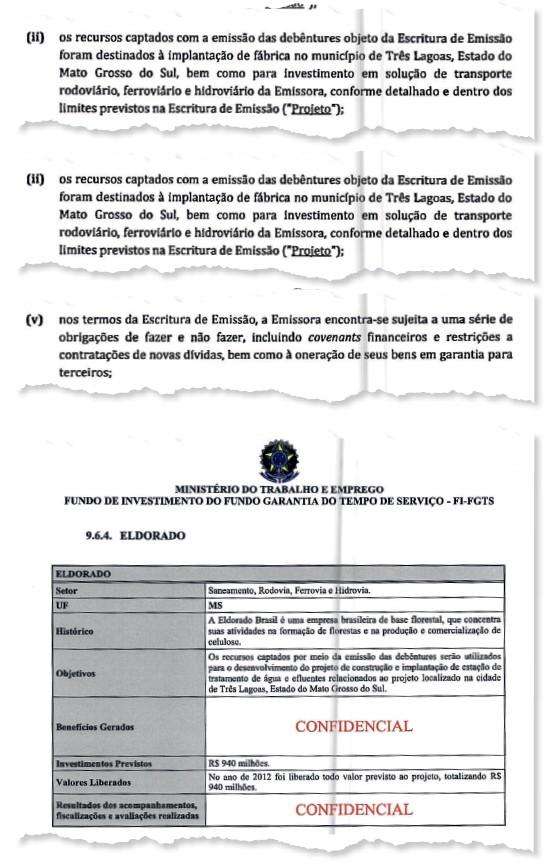 Cópia do contrato da J&F (Foto: Reprodução)