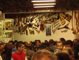 Sala das Promessas em Aparecida (Foto: Filipe Rodrigues/ Globoesporte.com)