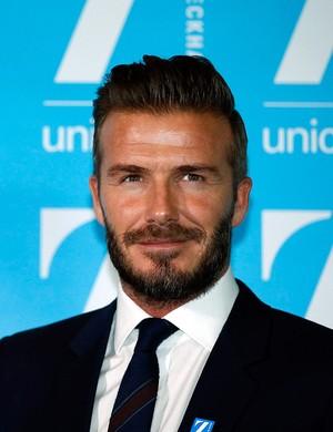 Beckham em evento da Unicef (Foto: Reuters)