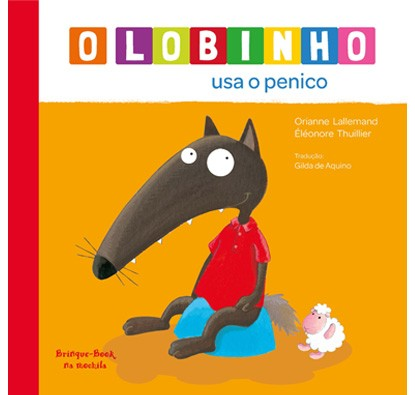 Lobinho usa o penico (Foto: Divulgação)