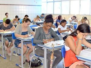prova do vestibular da universidade do estado da bahia (Foto: Divulgação/Uneb)