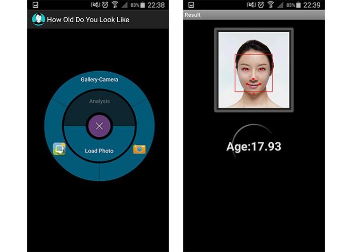 App permite registrar foto ou escolher na galeria para adivinha idade do usuário (Foto: Reprodução/Barbara Mannara)