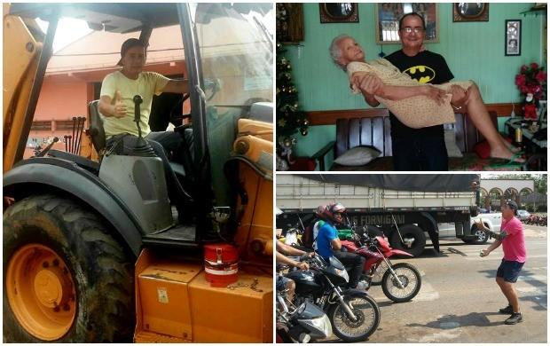 Alguns momentos registrados com o apresentador do Jornal do Acre (Foto: Ayres Rocha/Arquivo Pessoal)