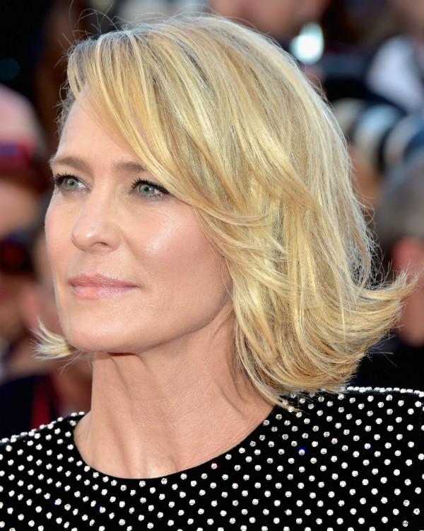 A atriz americana Robin Wright, de 51 anos o tapete vermelho de Cannes deste ano (Foto: Getty Images)