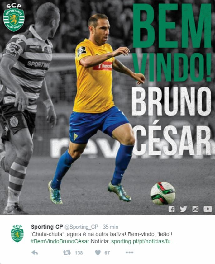 Bruno César Sporting (Foto: Reprodução / Twitter)