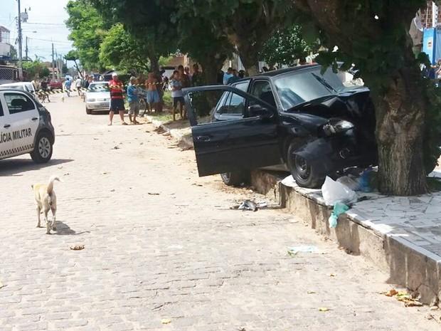 Crime aconteceu no bairro de Felipe Camarão, na Zona Oeste da cidade (Foto: Marksuel Figueredo/Inter TV Cabugi)