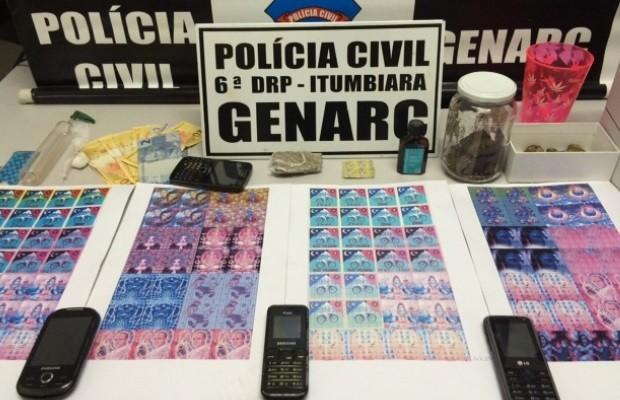 Polícia apreende selos de LSD que seriam vendidos em festival sertanejo em Caldas Novas, Goiás (Foto: Divulgação/Polícia Civil)