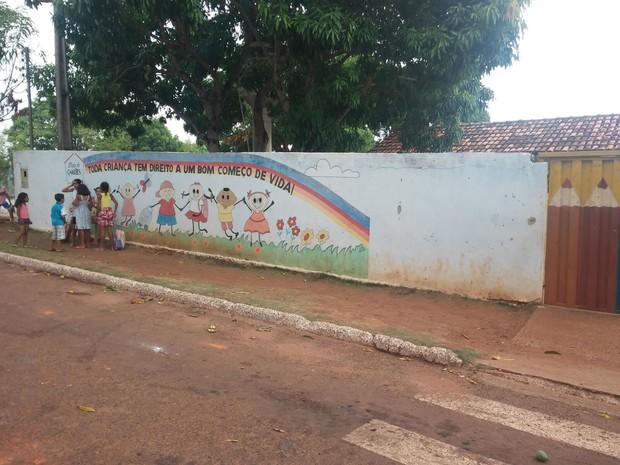 Escola Luís de Camões, em Guaraí é uma das que  vai receber a reforma (Foto: Prefeitura de Guaraí/ Divulgação)