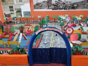 Maquete construída por alunos do projeto (Foto: Divulgação)