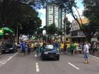Manifestantes protestam contra Dilma Rousseff em São José, SP