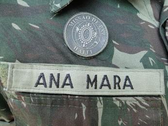 Distintivo dado a quem participou de Missão do Exército Brasileiro no Haiti. (Foto: Cristina Moreno de Castro / G1)