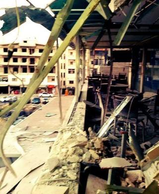 Amer Salha destroços Síria (Foto: Arquivo pessoal)
