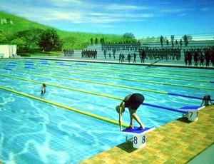 Projeto da construção da piscina da Fundac, em Salvador (Foto: Divulgação)