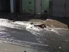 Vazamento interrompe trânsito em avenida de Campina Grande