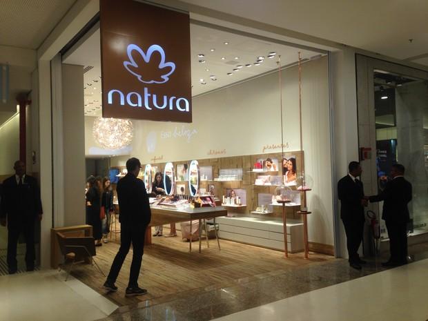 Loja da Natura no shopping Morumbi, em São Paulo (Foto: Taís Laporta/G1)