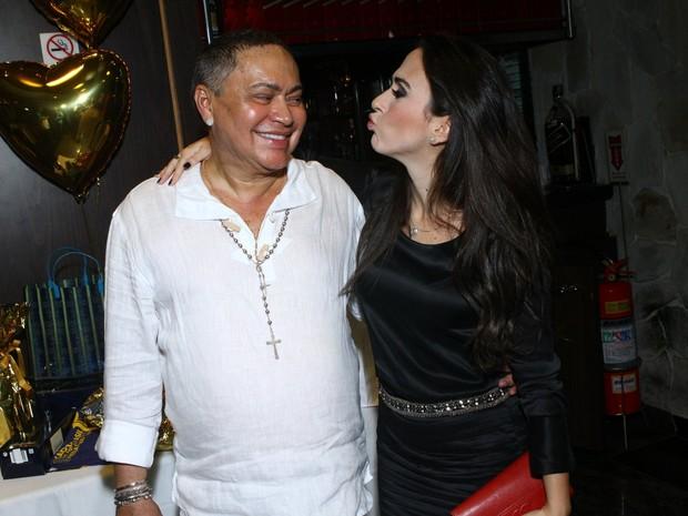 Tatá Werneck com o promoter Glaycon Muniz em festa no Rio (Foto: Raphael Mesquita/ Foto Rio News)