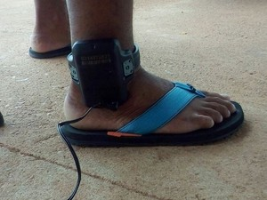 Presos receberam orientações sobre o uso das tornozeleiras (Foto: Tom Lima/Divulgação)