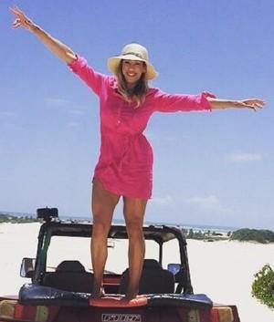 Fernanda Pinheiro no Partiu Paraíso (Foto: TV Sergipe)