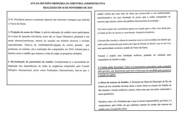 vasco documento parte 01 (Foto: Reprodução)