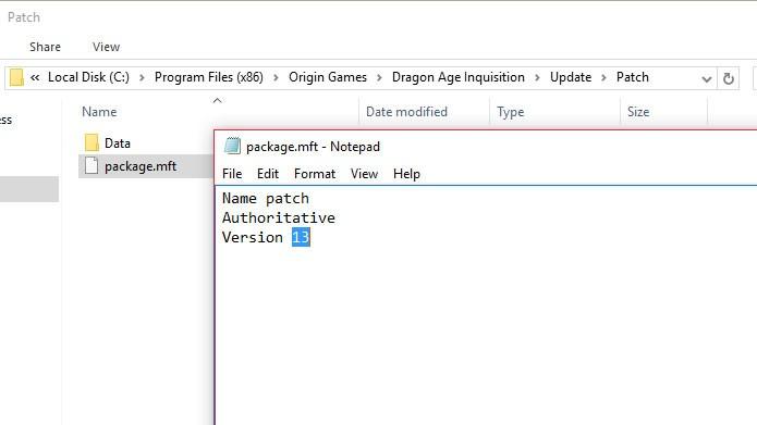 Altere o arquivo package.mft na pasta do Dragon Age: Inquisition (Foto: Reprodução/Tais Carvalho)