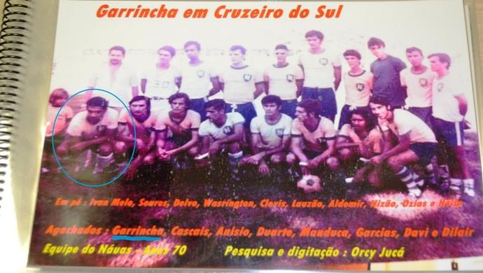 Garrincha participou de amistoso em Cruzeiro do Sul, no interior do Acre (Foto: Adelcimar Carvalho)