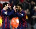 Tarde do trio: Messi faz três, Neymar e Suárez também brilham, e Barça goleia