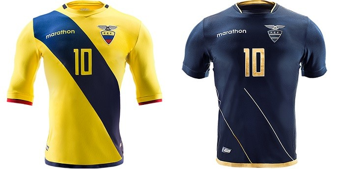 Camisa Equador Copa América Centenario
