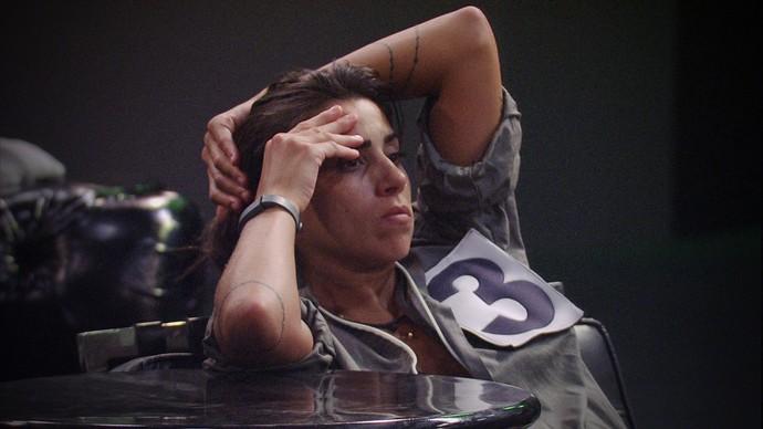Juliana desiste da Prova do Líder e elimina Cacau também (Foto: TV Globo)