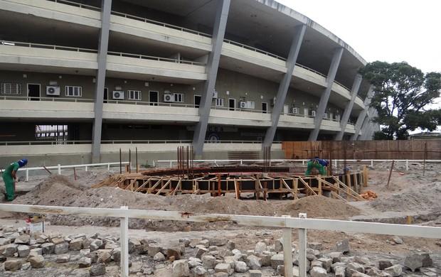 Memorial Marta construção (Foto: Viviane Leão/GLOBOESPORTE.COM)