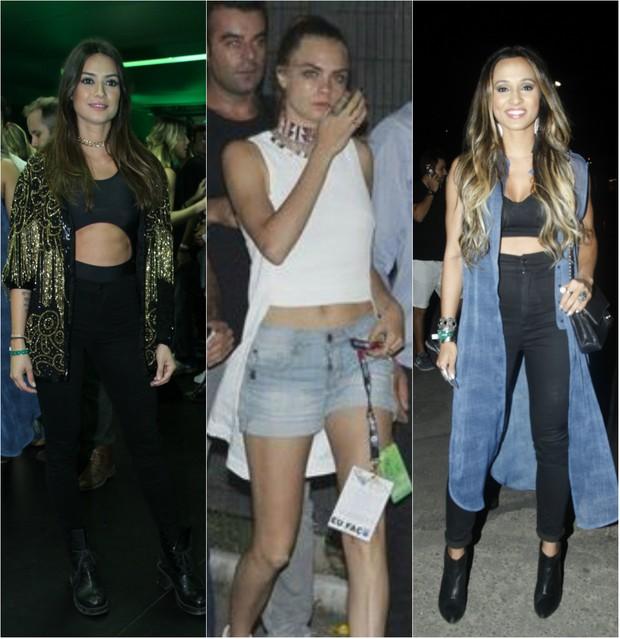 Look no Rock in Rio: Thaila Ayala, Cara Delevingne e Thaissa Carvalho mostram barriga sarada (Foto: Ag. News)