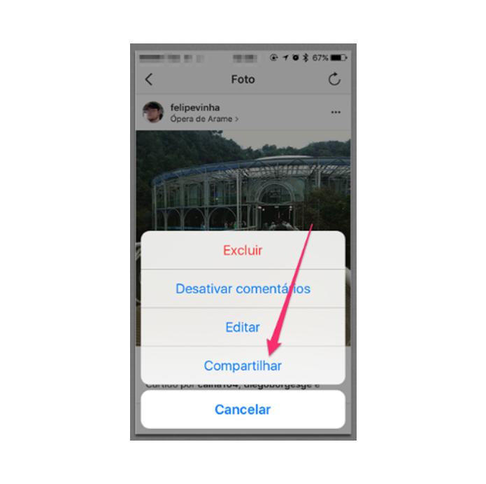 Como compartilhar fotos e vídeos do Instagram no Pinterest (Foto: Reprodução/Felipe Vinha)