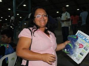 Professora Francisca Nunes destaca sonho de cursar Direito (Foto: Catarina Costa/G1)