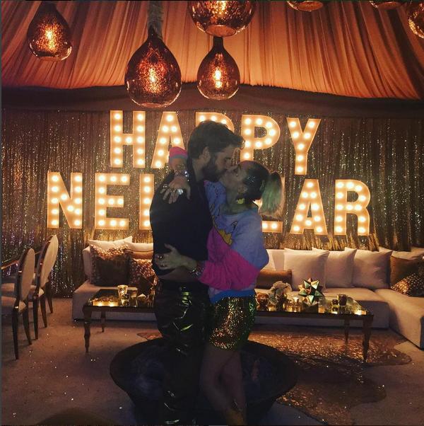 Miley Cyrus e Liam Hemsowrth (Foto: Instagram)