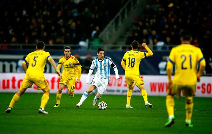 Messi jogo Arentina e Romênia amistoso (Foto: Reuters)
