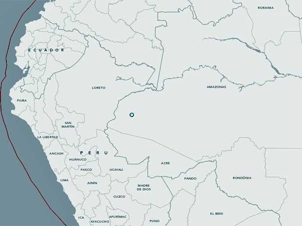 USGS registra terremoto de magnitude 4,6 na cidade de Cruzeiro do Sul, no Amazonas. (Foto: Reprodução / USGS)