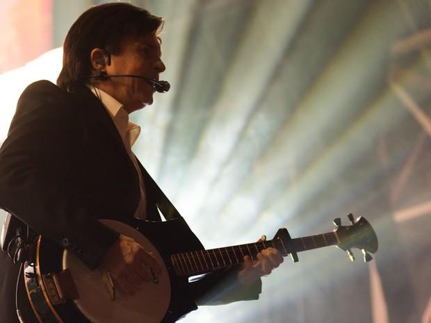 O cantor Xororó se apresenta no palco da festa de Barretos (Foto: Érico Andrade/G1)