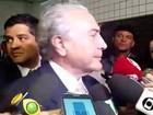 'Em breve se reverterá', diz Temer sobre índice de popularidade de Dilma