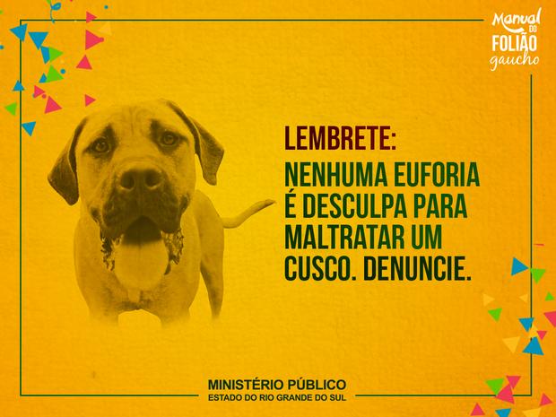 Outra postagem trata dos direitos dos animais (Foto: MP/Divulgação)