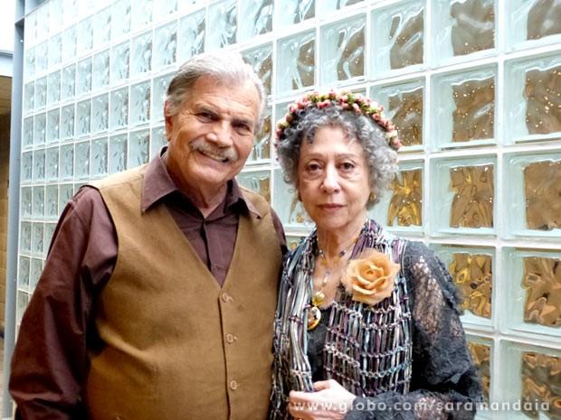 Tarcísio Meira e Fernanda Montenegro contracenaram raras vezes juntos (Foto: TV Globo/Saramandaia)