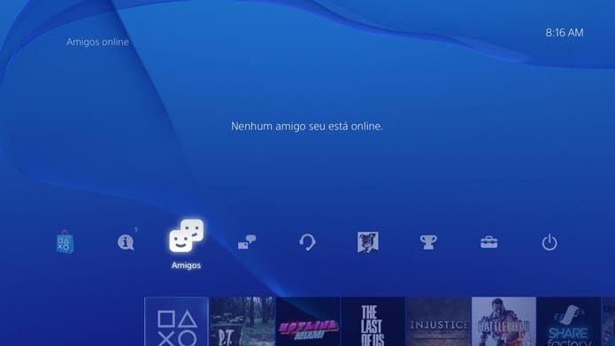 Playstation 4: como excluir e bloquear um usuário na PSN (Foto: Reprodução/Murilo Molina)