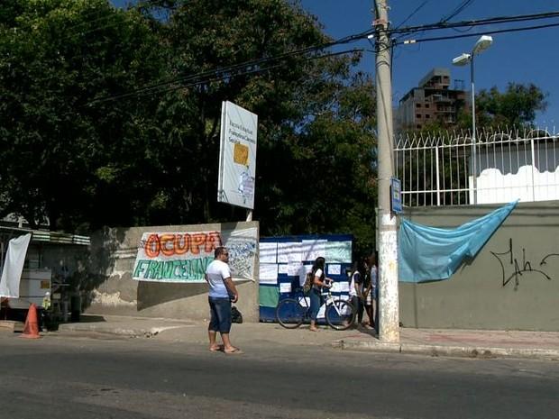 Escola Francelina Setubal, ocupada em Vila Velha (Foto: Reprodução/ TV Gazeta)