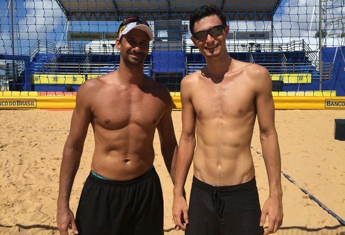 ricardo, andré stein, vôlei de praia (Foto: Lucas Barros / GloboEsporte.com)